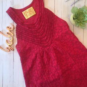 Free People red lace tank top